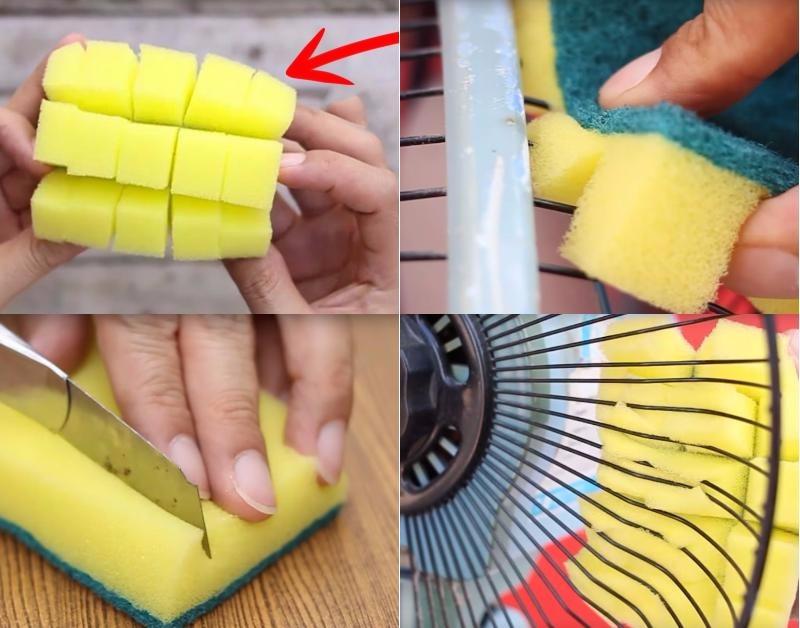 Просто разрежь губку на несколько частей… Вкуси блаженство от уборки!