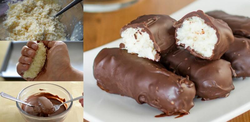 Способ приготовления домашних конфет «Баунти»