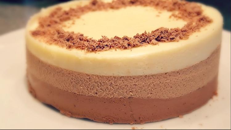 Муссовый торт 3 шоколада