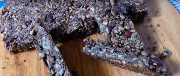 Пеку особенный домашний хлеб без муки и дрожжей, съедаем всё до крошки. Отлично в качестве утренних бутербродов или дневного перекуса.